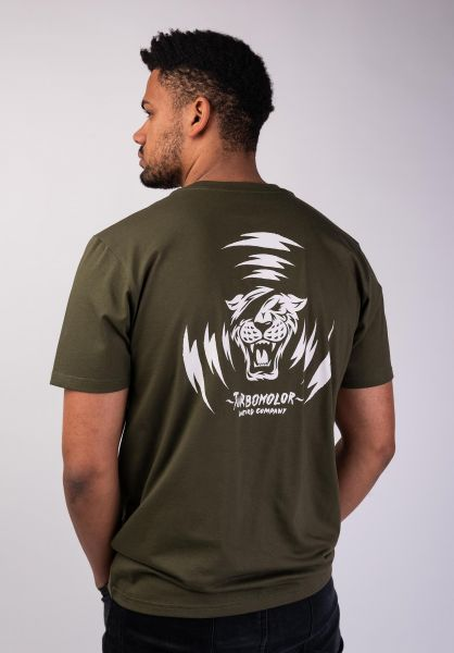 Turbokolor T-Shirts Alert khaki vorderansicht 0320185