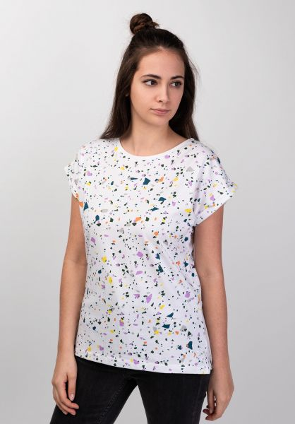Dedicated T-Shirts Visby Terazzo white vorderansicht 0399209