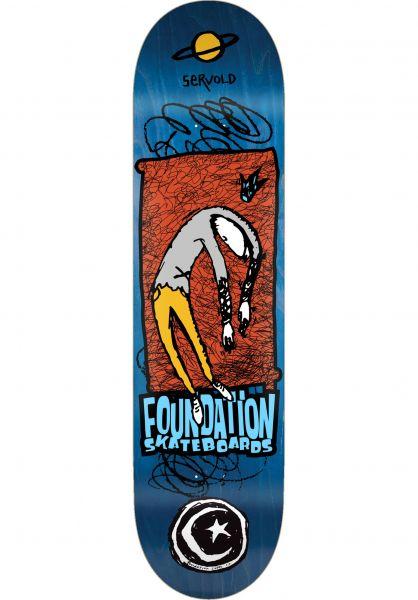 Foundation Skateboard Decks Servold Planet Saturn natural vorderansicht 0265507