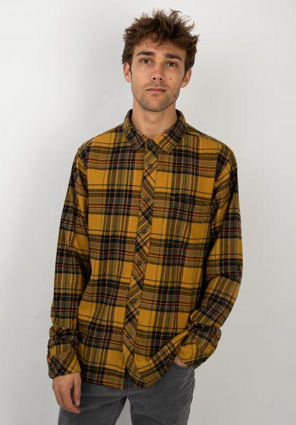 Billabong Hemden langarm Coastline Flannel gold vorderansicht 0411820