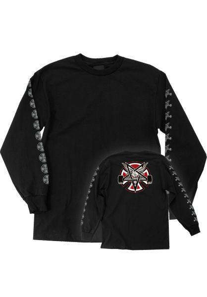 Independent Longsleeves Thrasher Pentagram Cross Independent black vorderansicht 0382981