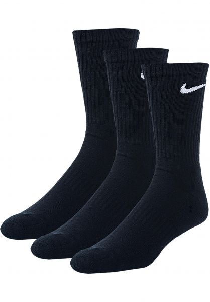 Nike SB Socken Every Day Cusion 3 Pack black-white vorderansicht 0631869