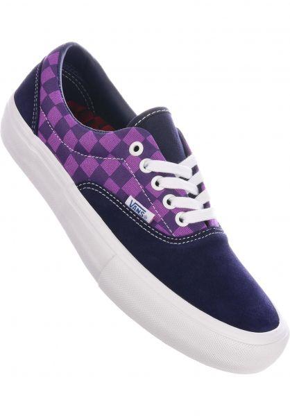 Vans Alle Schuhe x Baker Era Pro kader-purplecheck vorderansicht 0604704