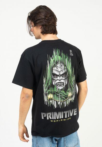 Primitive Skateboards T-Shirts x Marvel Doom black vorderansicht 0323958