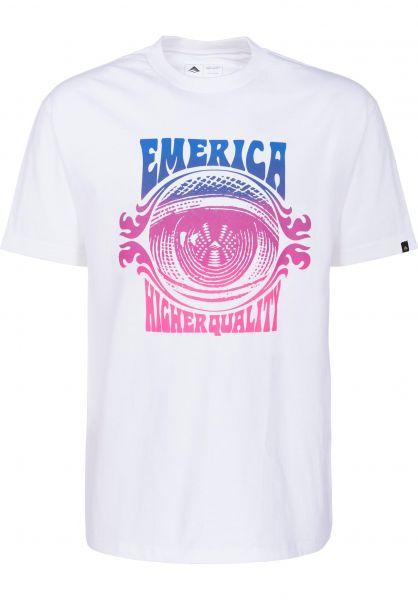 Emerica T-Shirts Paranoia white Vorderansicht