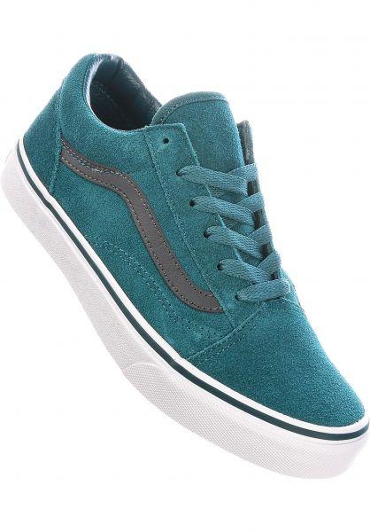 Vans Alle Schuhe Old Skool Kids shadedspruce-asphalt vorderansicht 0216057