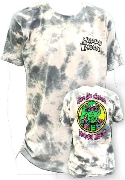 Happy Hour T-Shirts See Ya Later Alligator Tie Dye smoke vorderansicht 0320737