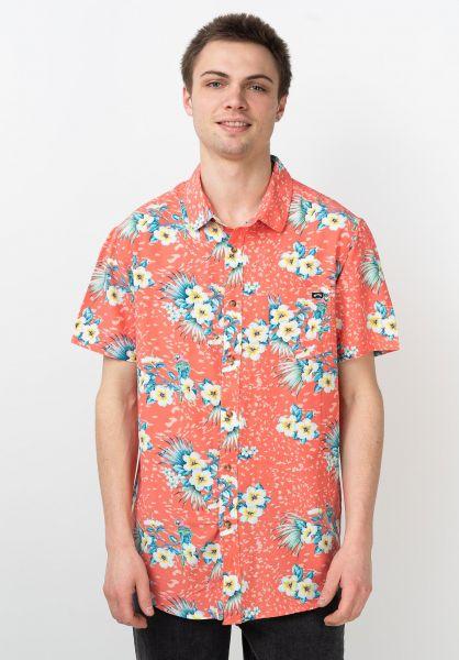 Billabong Hemden kurzarm Sunday Floral coral vorderansicht 0411758