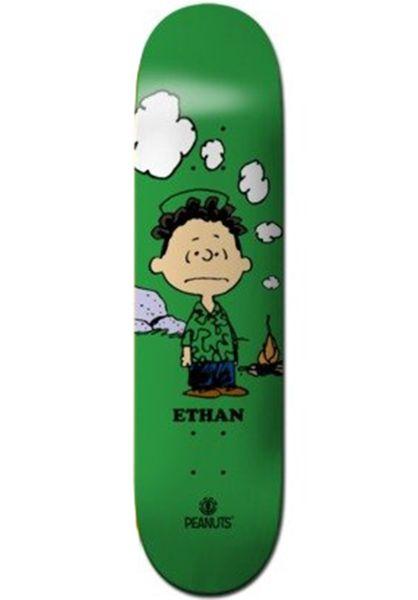 Element Skateboard Decks x Peanuts Loy Roy green vorderansicht 0266702