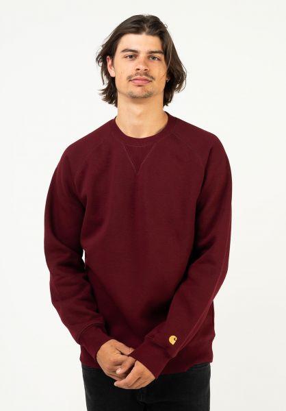 Carhartt WIP Sweatshirts und Pullover Chase jam-gold vorderansicht 0420832