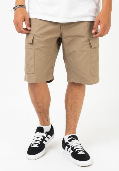 Carhartt WIP Cargoshorts Aviation Short leatherrinsed vorderansicht 0212005