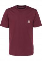 Carhartt WIP T-Shirts Pocket chianti-white Vorderansicht