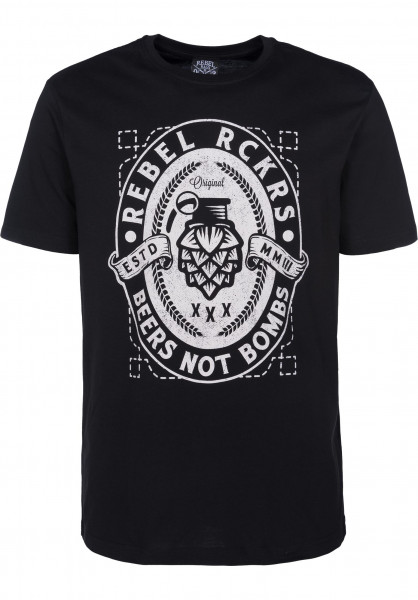 Rebel Rockers T-Shirts Beerbomb black Vorderansicht