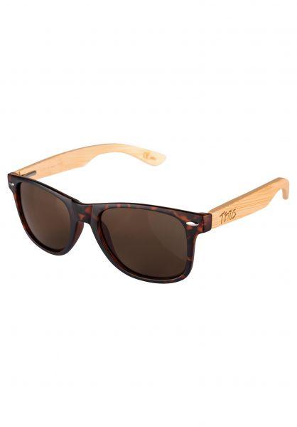 TITUS Sonnenbrillen PLaSoo black-bamboo-brown Vorderansicht