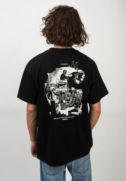 Carhartt WIP T-Shirts Radio black-white vorderansicht 0320600