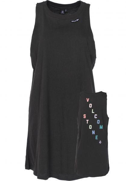 Volcom Kleider Day By Day vintage-black Vorderansicht