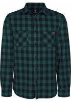 TITUS-Hemden-langarm-Adam-Light-darkgreen-checked-Vorderansicht