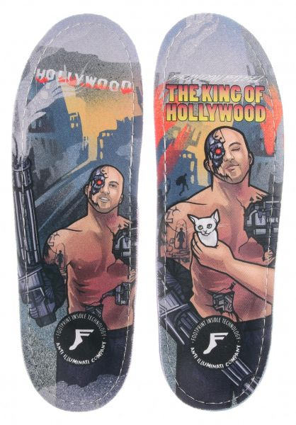 Footprint Insoles Einlegesohlen King Foam Orthotics Biebel King Of Hollywood multicolored vorderansicht 0249117