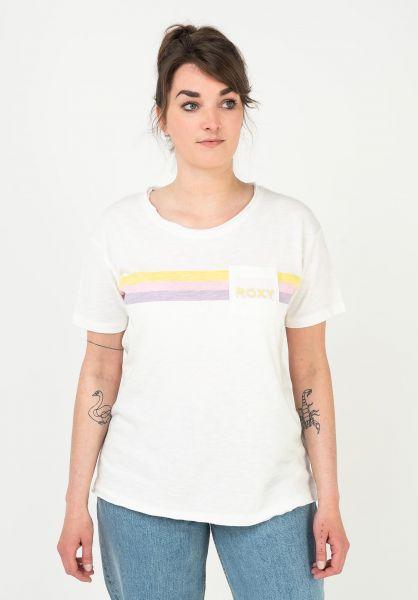 Roxy T-Shirts Star Solar C snowwhite vorderansicht 0322792