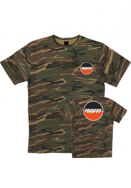 Bronson Speed Co. T-Shirts Logo camouflage vorderansicht 0394184