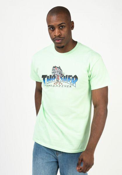 Thrasher T-Shirts Leopard Mag mint vorderansicht 0322664