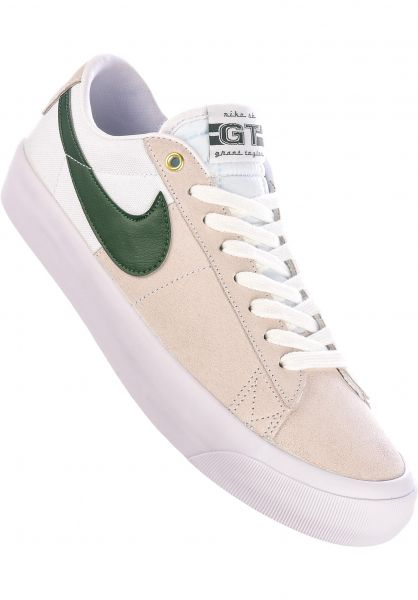 Nike SB Alle Schuhe Zoom Blazer Low Pro GT white-fir-white-gumlightbrown vorderansicht 0604956