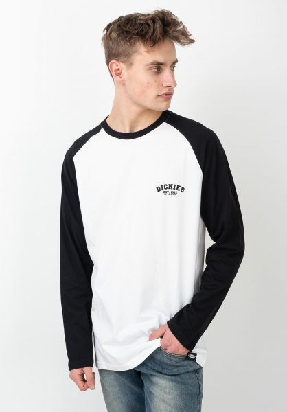 Dickies Longsleeves Baseball black vorderansicht 0381556