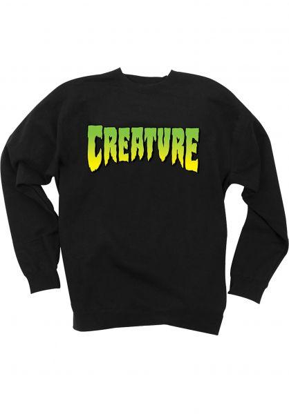 Creature Sweatshirts und Pullover Logo black vorderansicht 0421600
