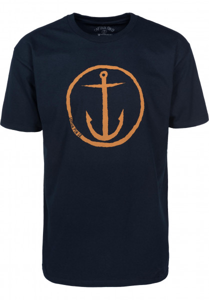 Captain Fin T-Shirts OG Anchor Standard navy-gold Vorderansicht