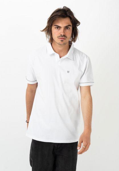 Brixton Polo-Shirts Carlos white-lightgrey vorderansicht 0138331