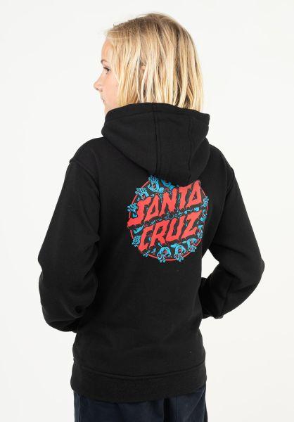 Santa-Cruz Hoodies Youth Handy Dot Hood black vorderansicht 0446250