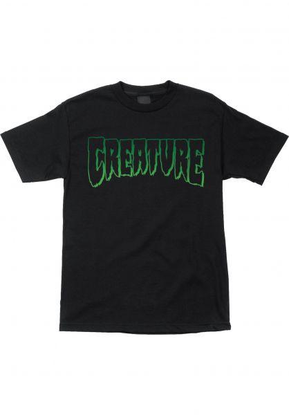 Creature T-Shirts Logo Outline black Vorderansicht