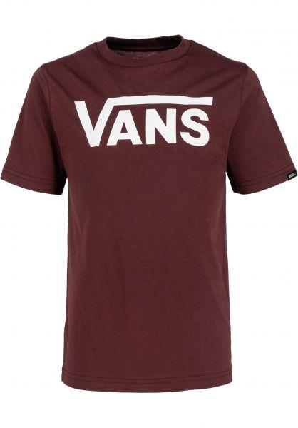 Vans T-Shirts Classic Kids portroyale-white vorderansicht 0373987