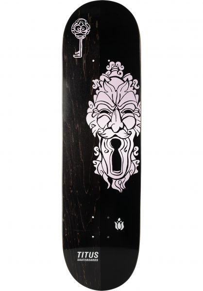 TITUS Skateboard Decks Mysterious Gate T-Fiber black-rose vorderansicht 0264343