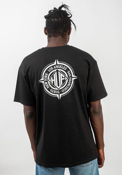 HUF T-Shirts Coordinates black vorderansicht 0320736