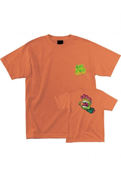 Santa-Cruz T-Shirts Mars Attacks Martian Hand neon Vorderansicht