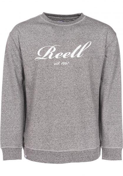 Reell Sweatshirts und Pullover Big Logo Crewneck greymelange Vorderansicht