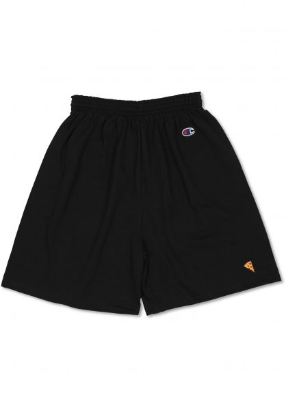 Pizza Skateboards Shorts Emoji Champion Shorts black Vorderansicht