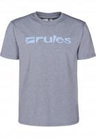 Rules T-Shirts Basic blue-greymottled-lightblue Vorderansicht