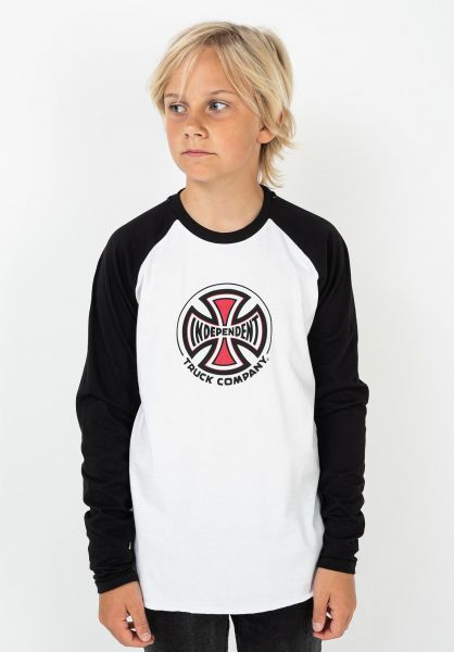 Independent Longsleeves Youth Truck Co. Baseball black-white vorderansicht 0383829