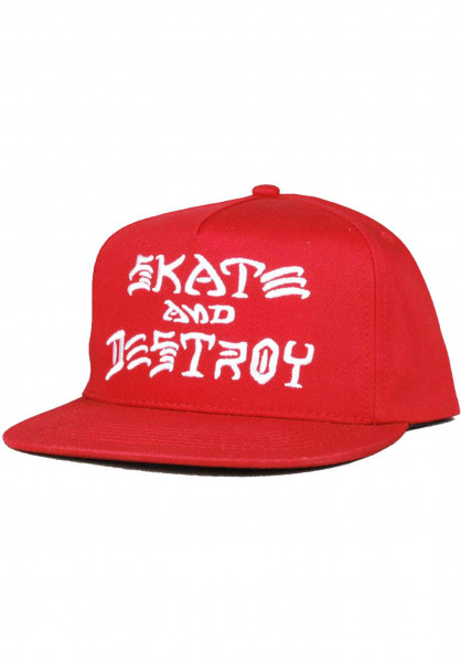 Thrasher Caps Skate & Destroy red Vorderansicht