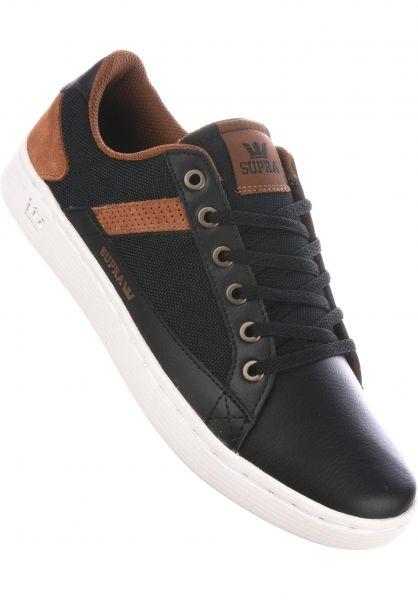 Supra Alle Schuhe Westlake black-brown-white Vorderansicht