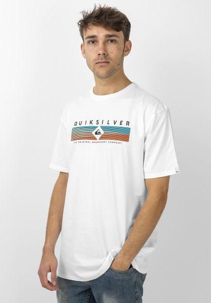 Quiksilver T-Shirts Distant Fortune white vorderansicht 0321538