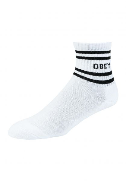 OBEY Socken Coop Sock white-black vorderansicht 0632156