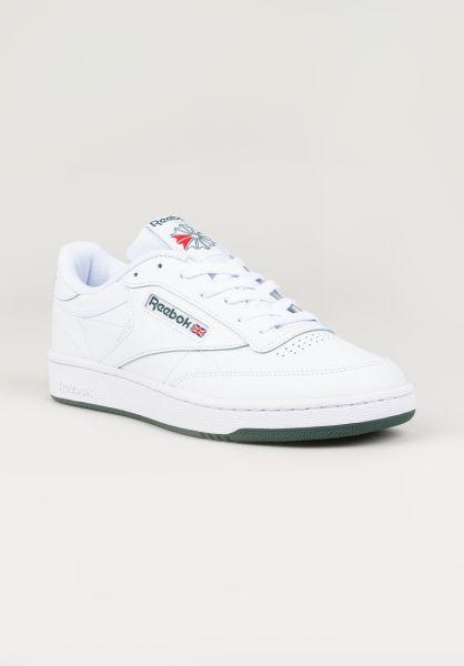 Reebok Alle Schuhe Club C 85 white-white-green vorderansicht 0604518