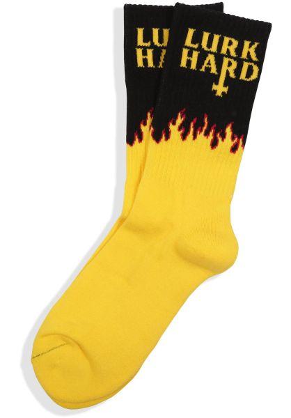 Lurk Hard Socken Flame yellow vorderansicht 0631671