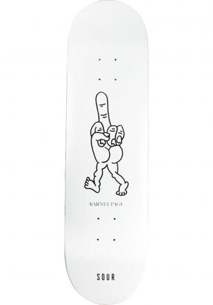 Sour Skateboards Skateboard Decks Page Finger white vorderansicht 0263591