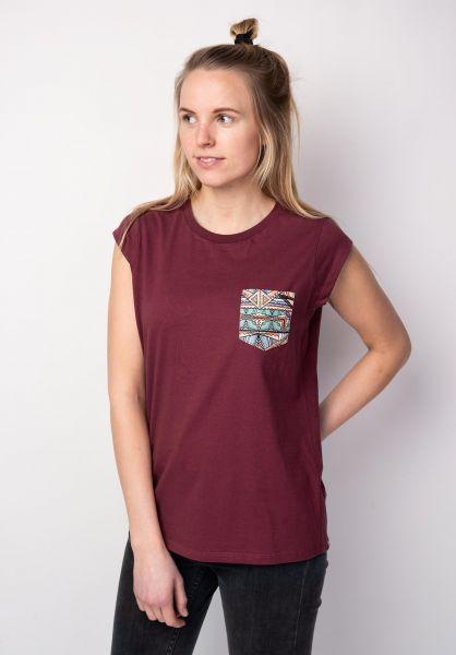 TITUS T-Shirts Kimi burgundy vorderansicht 0396515