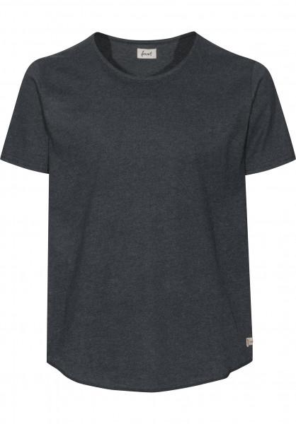 Forvert T-Shirts Purley black-melange Vorderansicht