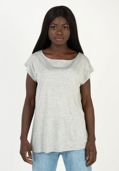 Ezekiel T-Shirts Audrey Top heatherlightgrey vorderansicht 0322320